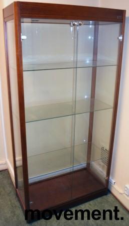 Glassmonter/premieskap: 90cm bredde, 40cm dybde, 180cm høyde, pent brukt bilde 1