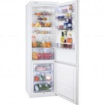 Zanussi ZRB640W kjøleskap/kombiskap med fryser nede i hvitt, 200cmhøyde, pent brukt