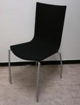 Kinnarps Citra konferansestol / kantinestol / stablestol i sort stoff / grått understell, pent brukt