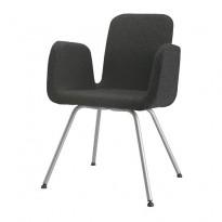 IKEA Patrik konferansestol i koksgråttt ullstoff, pent brukt
