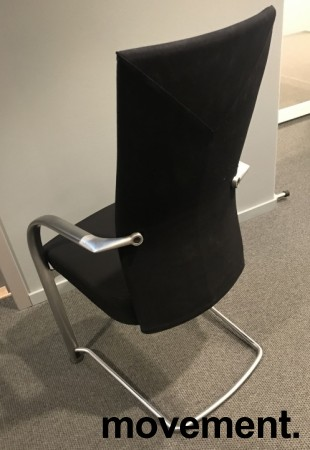 Konferansestol i sort / aluminium, Fritz Hansen, Independence, Design: Burkhard Vogtherr, pent brukt bilde 6