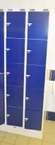 Garderobeskap i stål, 2 rom i bredde, 5 rom i høyde fra Sarpsborg Metall, 60cm bredde, pent brukt