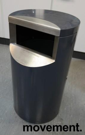Avfallsbøtte for offentlig miljø / fellesområder (innendørs), låsbar med trekantnøkkel, pent brukt bilde 1