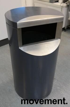 Avfallsbøtte for offentlig miljø / fellesområder (innendørs), låsbar med trekantnøkkel, pent brukt bilde 2