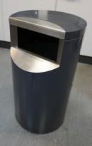 Avfallsbøtte for offentlig miljø / fellesområder (innendørs), låsbar med trekantnøkkel, pent brukt