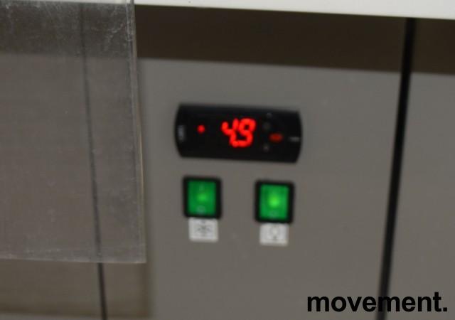 Stor butikk-kjøler, kjøleskap for dagligvare / storkiosk, 260cm bredde, 202cm høyde, pent brukt bilde 3