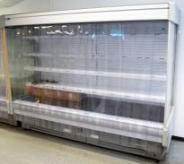Stor butikk-kjøler, kjøleskap for dagligvare / storkiosk, 260cm bredde, 202cm høyde, pent brukt