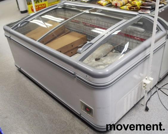 Fryseboks for iskrem/frossenvarer fra AHT, Miami serie, 185cm bredde, skyvedører i glass i toppen, pent brukt bilde 6