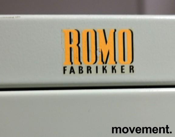 Arkivskap vintage / retro med 2 skuffer fra Romo fabrikker, 42cm bredde, 72cm høyde, brukt bilde 2