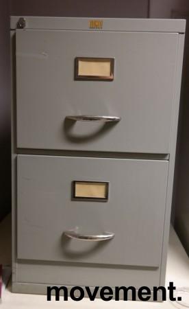Arkivskap vintage / retro med 2 skuffer fra Romo fabrikker, 42cm bredde, 72cm høyde, brukt bilde 1