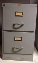 Arkivskap vintage / retro med 2 skuffer fra Romo fabrikker, 42cm bredde, 72cm høyde, brukt