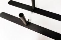 Benpakke T-fot til Abstracta Softline gulvstående skillevegg, 18mm, NY