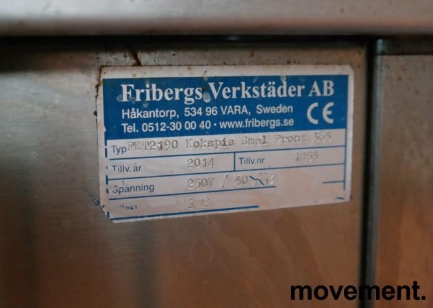 Kokebord / komfyr, Fribergs FKP2190, 36cm bredde, 2 soner, 6kW, 230V 3fas, pent brukt 2014-modell bilde 3