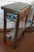 Kokebord / komfyr, Fribergs FKP2190, 36cm bredde, 2 soner, 6kW, 230V 3fas, pent brukt 2014-modell