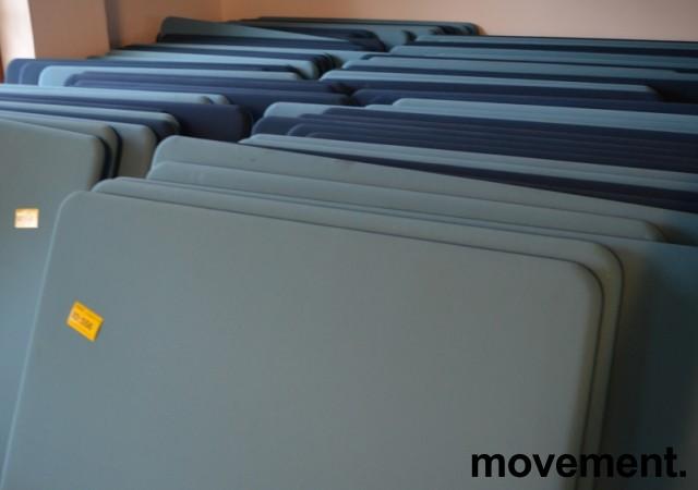 Lyddempende skillevegg i to blåfarger, Abstracta softline, mørk blå / lys blå, 140x160cm, pent brukt