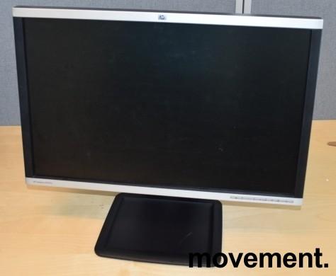 Flatskjerm til PC: HP LA2405x, 24toms 1920x1200, LED, DVI/DP/VGA/USB-hub, Swivel, pent brukt bilde 2