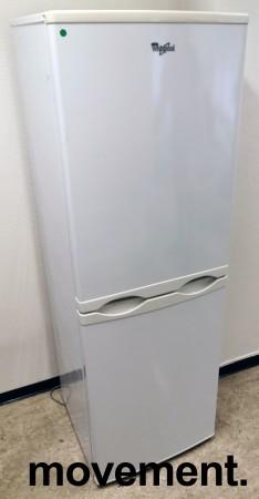 Kjøleskap/kombiskap fra Whirlpool i hvitt, 54,5cm b, 166cm h, modell WBE2212NFW, pent brukt bilde 1