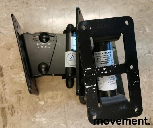 König & Meyer veggbraketter til høyttaler, max 15kg, 24470-000-55, 1 par, pent brukt bilde 2