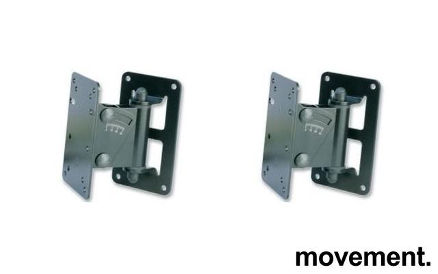 König & Meyer veggbraketter til høyttaler, max 15kg, 24470-000-55, 1 par, pent brukt bilde 1