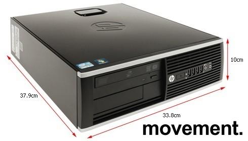 Stasjonær PC: HP 8200 Elite, SFF, i7-2600 3,4GHz, 4GB, 120GB SSD, WIN10, pent brukt bilde 2