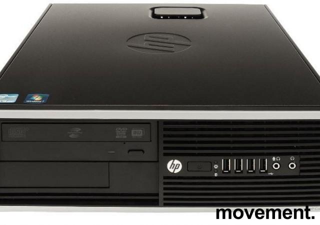 Stasjonær PC: HP 8200 Elite, SFF, i7-2600 3,4GHz, 4GB, 120GB SSD, WIN10, pent brukt bilde 1