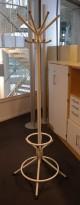 Stumtjener i hvitlakkert metall, 180cm høyde, pent brukt