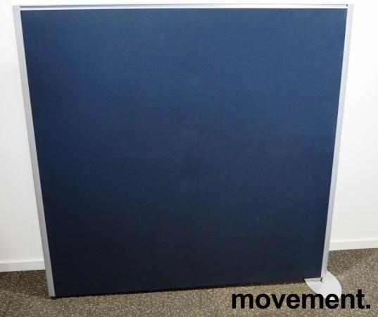 Skillevegg, frittstående modell i gråblått / aluminium, 133cm høyde, 140cm bredde, pent brukt bilde 1