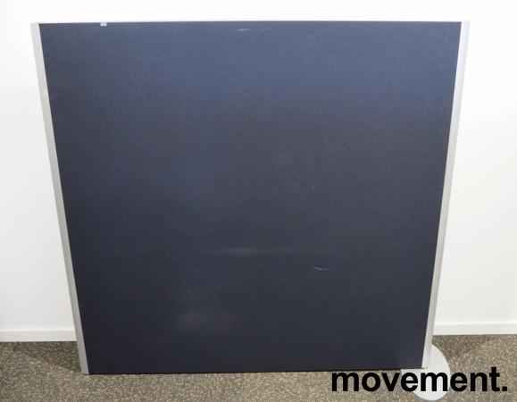 Skillevegg, frittstående modell i gråblått / aluminium, 133cm høyde, 140cm bredde, pent brukt bilde 2