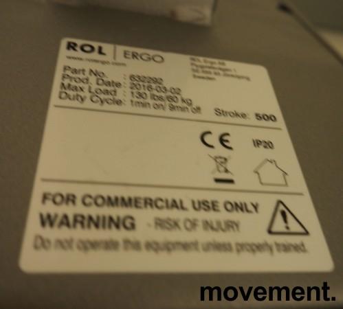 Skrivebord / hjørneløsning med elektrisk hevsenk fra EFG i lys grå, 200x180, venstreløsning, pent brukt bilde 4
