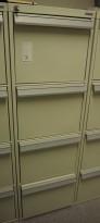 Fossafe 4 skuffers brannskap / brannsikkert arkivskap, 141cm høyde, 60min, grått, pent brukt