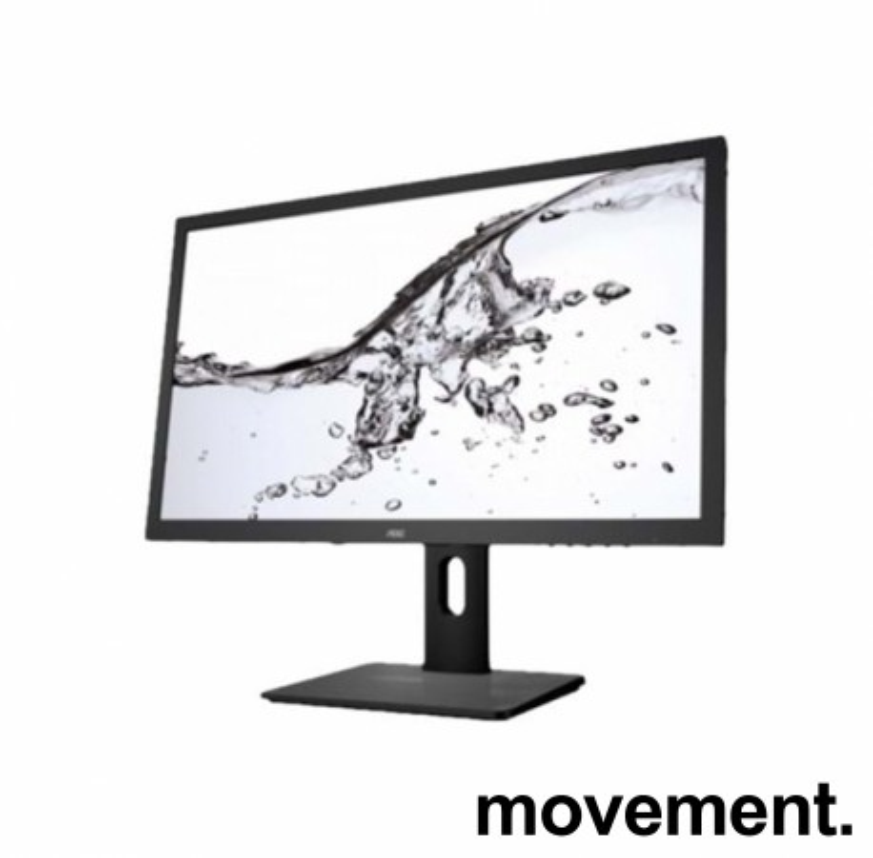 Flatskjerm til PC: AOC Q2775PQU 27toms, QHD 2560x1440, IPS, VGA DVI, HDMI, DP, pent brukt