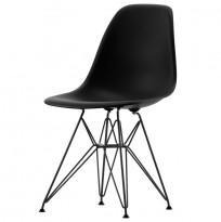 Vitra DSR designstoler i Basic Dark (Grå), Design: Charles & Ray Eames, demobrukt