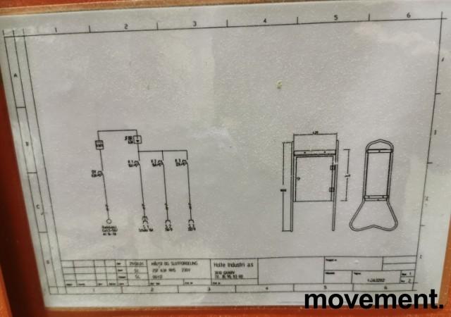 Undersentral / Byggestrømsskap 63A 230V 3fas med jordfeilbryter fra Holte Industri, PENT BRUKT bilde 5