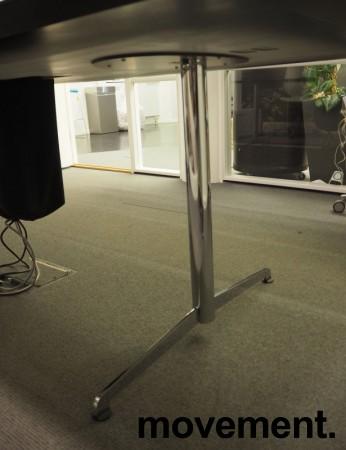 Møtebord i hvitt / krom, 250x110cm, passer 8-10 personer, pent brukt bilde 2