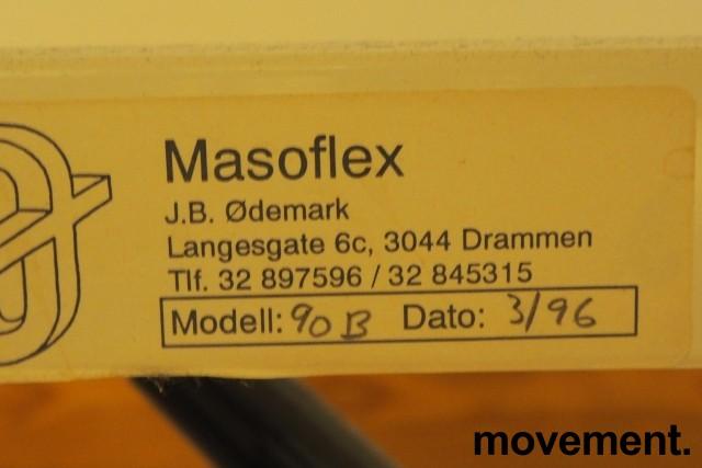 Legebenk / fysioterapibenk i blå skinnimitasjon fra Masoflex, elektrisk justering, 190x100cm, pent brukt bilde 4