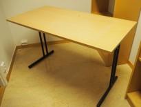 Konferansebord / klappbord i bøk laminat understell i sort, 120x60cm bordplate, pent brukt