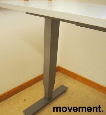 Skrivebord / hjørneløsning med elektrisk hevsenk fra EFG i lys grå, 180x200, venstreløsning, pent brukt bilde 2