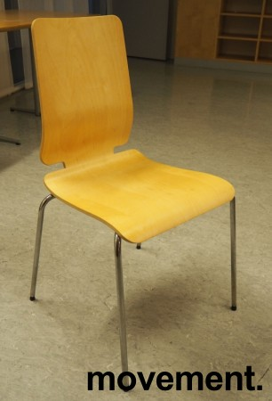 Konferansestol: Gilbert stol fra Ikea i bjerk finer / krom, pent brukt bilde 1