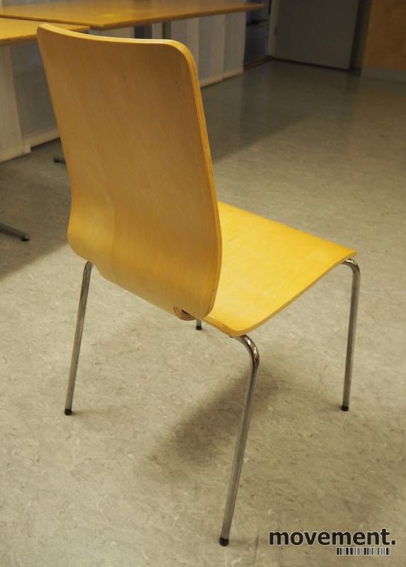 Konferansestol: Gilbert stol fra Ikea i bjerk finer / krom, pent brukt bilde 2