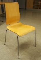 Konferansestol: Gilbert stol fra Ikea i bjerk finer / krom, pent brukt