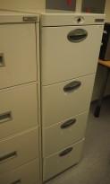 OfficeLine arkivskap i hvitlakkert stål, 4 skuffers, 42 cm bredde, pent brukt