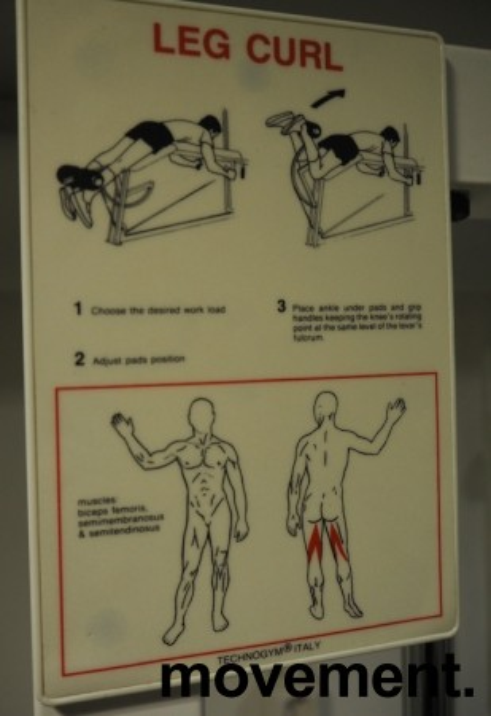 Leg curl-maskin / treningsapparat fra Technogym, pent brukt bilde 2