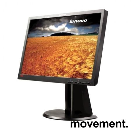 Lenovo ThinkVision L2240pWD / 4422-HB6 - LCD monitor - 22toms, 1680x1050 wide, VGA/DVI, pent brukt bilde 1
