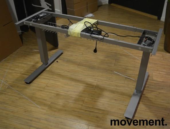 Understell for skrivebord med elektrisk hevsenk fra EFG, passer plater 120cm eller større, pent brukt bilde 1