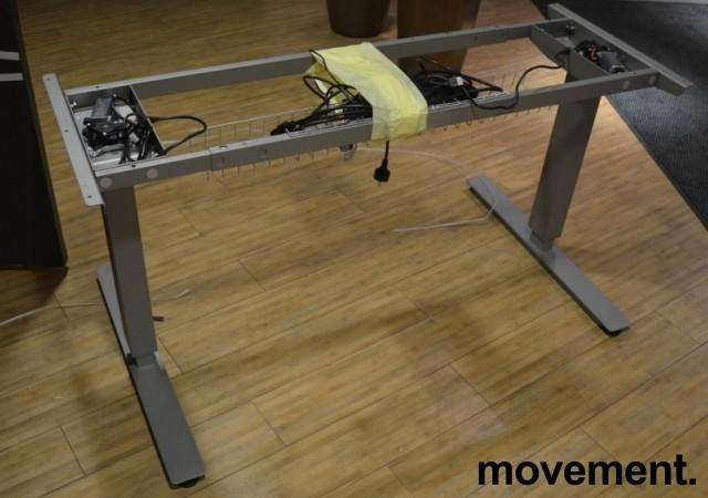 Understell for skrivebord med elektrisk hevsenk fra EFG, passer plater 120cm eller større, pent brukt bilde 2