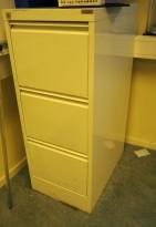 Arkivskap for hengemapper fra Esselte Pendaflex i hvitt, 3 skuffers, 41,5cm bredde, pent brukt