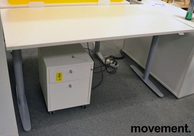 Skrivebord med elektrisk hevsenk fra Edsbyn, 160x80cm, NY PLATE / pent brukt bilde 2