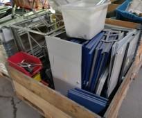 2 paller med USM HALLER deler til skapsystem selges samlet, brukt