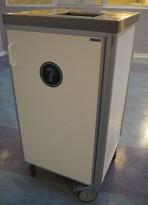 Essnor Søppeltralle / avfallstralle for storkjøkken / kantine i hvitt, pent brukt