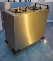 Tallerkentralle for Ø=24cm tallerkener i rustfritt stål, pent brukt